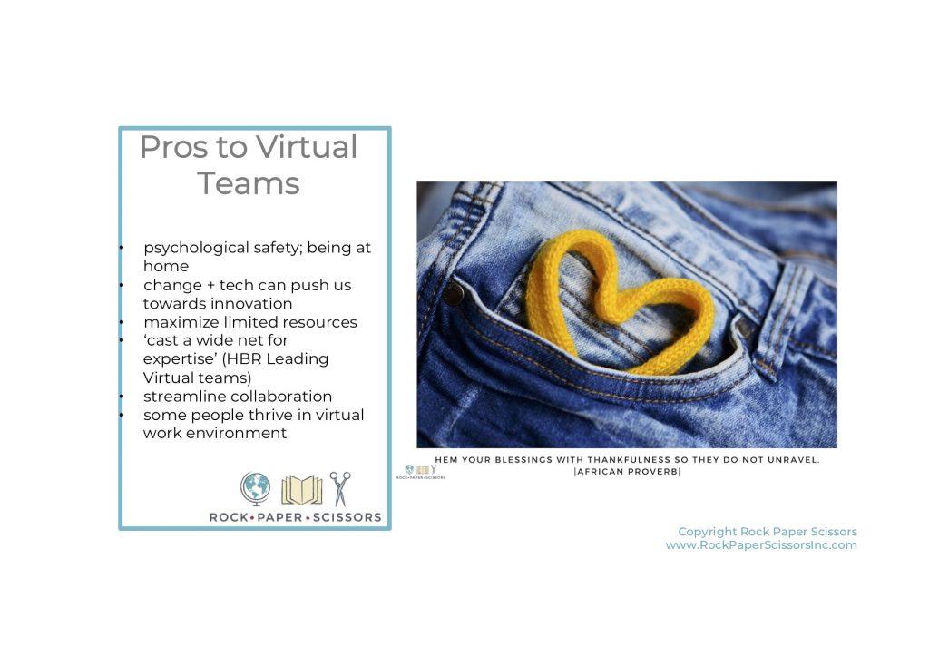 virtual teams pros