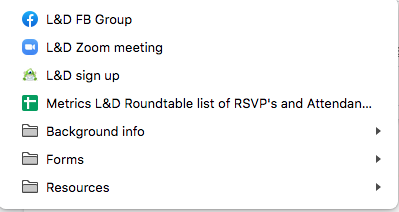 Bookmark learning and development roundtable